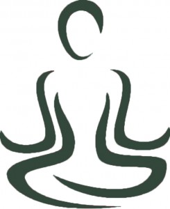 meditation image dark green
